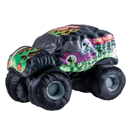 Grave Digger Soft Black Plush Truck