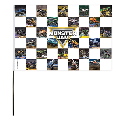 Monster Jam Checkered V2 Flag