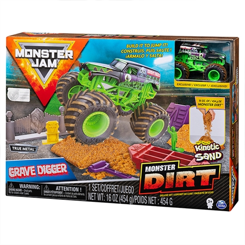 Monster Dirt Deluxe Set with 1:64 Grave Digger