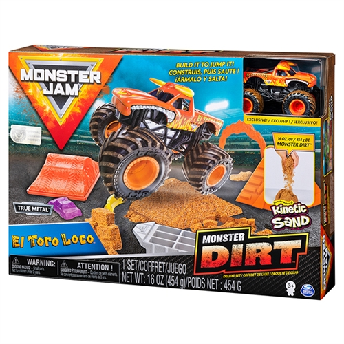Monster Dirt Deluxe Set with 1:64 El Toro Loco