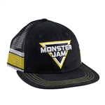 Yellow Stripe Monster Jam Cap