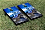 Monster Jam Blue Thunder Cornhole Game Set Smoke Version