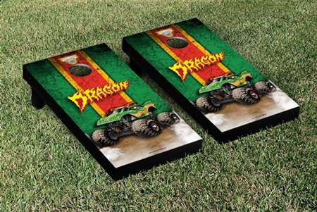 Monster Jam Dragon Cornhole Game Set Vintage Version