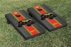 Monster Jam Dragon Cornhole Game Set Onyx Stained Stripe Version