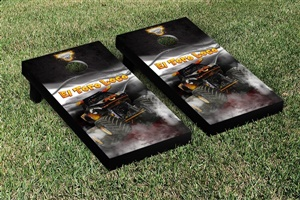 Monster Jam El Toro Loco Black Cornhole Game Set Smoke Version
