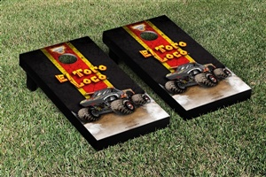 Monster Jam El Toro Loco Black Cornhole Game Set Vintage Version