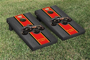 Monster Jam El Toro Loco Black Cornhole Game Set Onyx Stained Stripe Version