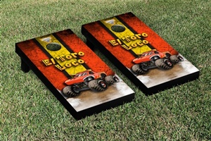 Monster Jam El Toro Loco Red Cornhole Game Set Vintage Version