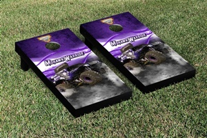 Monster Jam Mohawk Warrior Cornhole Game Set Smoke Version