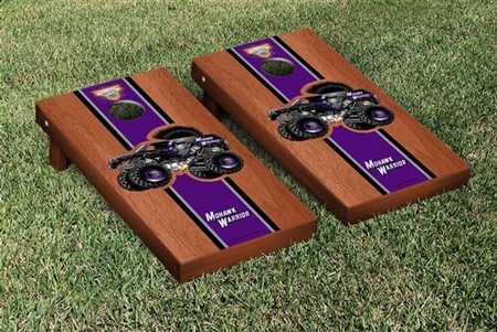 Monster Jam Mohawk Warrior Cornhole Game Set Rosewood Stained Stripe Version
