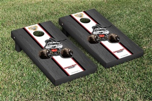 Monster Jam Monster Mutt Dalmatian Cornhole Game Set Onyx Stained Stripe Version