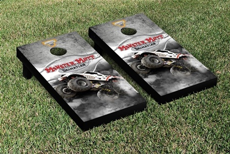 Monster Jam Monster Mutt Dalmatian Cornhole Game Set Smoke Version