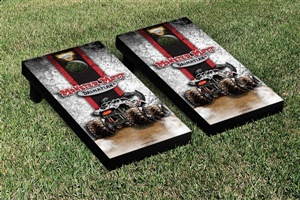 Monster Jam Monster Mutt Dalmatian Cornhole Game Set Vintage Version