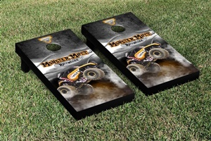 Monster Jam Monster Mutt Rottweiler Cornhole Game Set Smoke Version