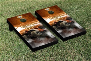 Monster Jam Monster Mutt Cornhole Game Set Smoke Version