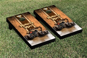 Monster Jam Monster Mutt Cornhole Game Set Vintage Version
