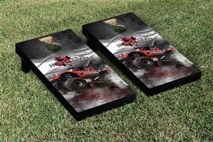 Monster Jam Northern Nightmare Cornhole Game Set Smoke Version