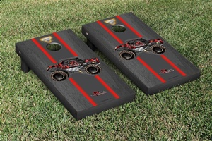 Monster Jam Northern Nightmare Cornhole Game Set Onyx Stained Stripe Version