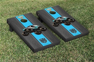 Monster Jam New Earth Authority Cornhole Game Set Onyx Stained Version