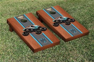 Monster Jam New Earth Authority Cornhole Game Set Rosewood Stained Version