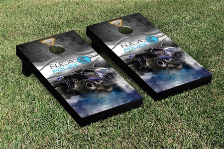 Monster Jam New Earth Authority Cornhole Game Set Smoke Version