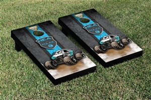 Monster Jam New Earth Authority Cornhole Game Set Vintage Version