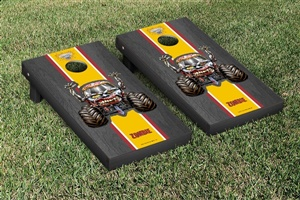 Monster Jam Zombie Cornhole Game Set Onyx Stained Stripe Version