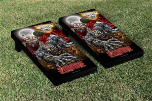 Monster Jam Zombie Cornhole Game Set Creature Version