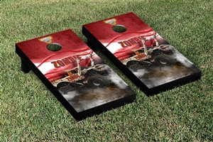 Monster Jam Zombie Cornhole Game Set Smoke Version