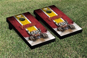 Monster Jam Zombie Cornhole Game Set Vintage Version