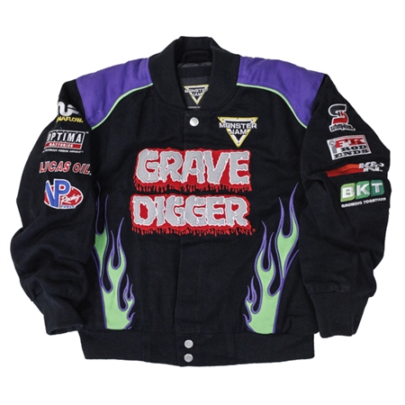 Grave Digger Flame Youth Jacket