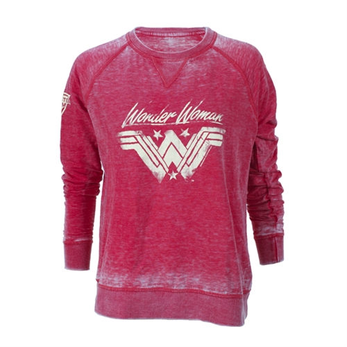 Wonder Woman Distressed Ladies Sweatshirt