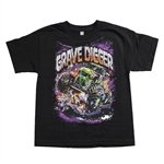 Grave Digger Attack Youth Tee