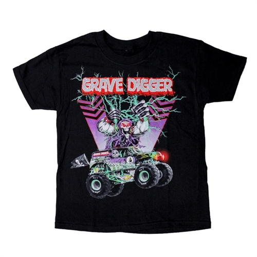 Grave Digger Bolts Youth Tee