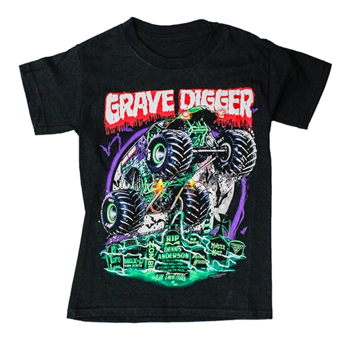 Grave Digger Graveyard Youth Tee