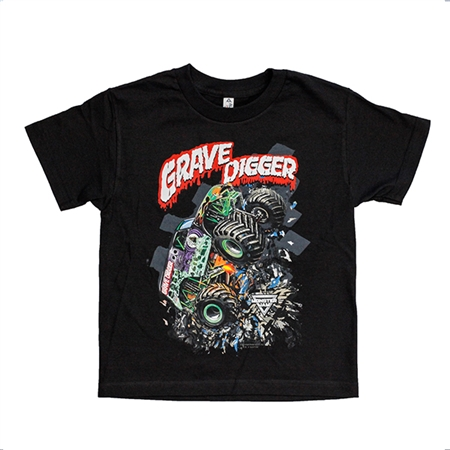 Youth Grave Digger Shatter Tee