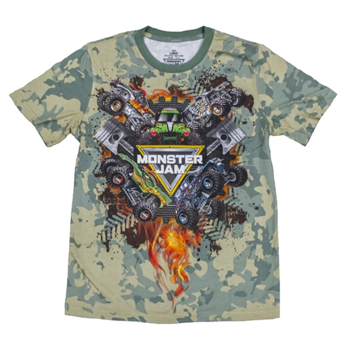 Monster Jam Series 2017 Camo Youth Tee