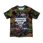 Monster Jam Series Camo Youth Tee