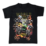 Monster Jam Wold Tour Black Youth Tee