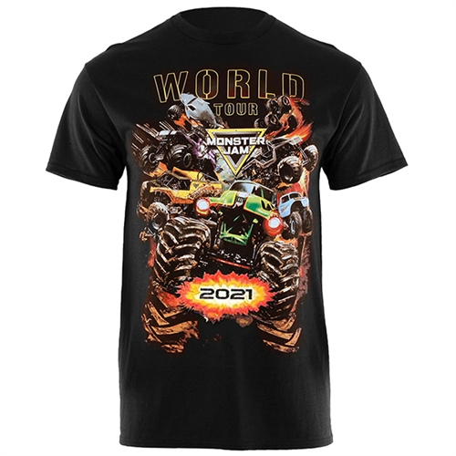 Monster Jam World Tour 2021 Youth Tee