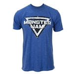 Monster Jam Distressed Blue Tee