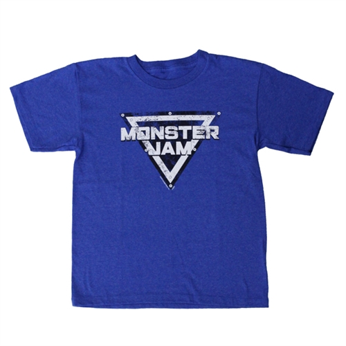 Monster Jam Distressed Blue Youth Tee