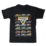 Monster Jam Collector Black Youth Tee