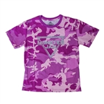 Monster Jam Pink Camo Youth Tee