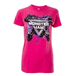 Ladies Pink Splat Tee