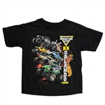 Monster Jam World Finals Black Lava Youth Tee