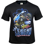 Grave Digger The Legend Flamethrower Tee