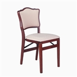 Stakmore French Upholstered Back Folding Chair