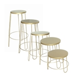 Set of 5 Round Basket Stands