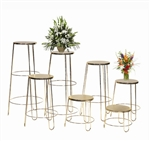 Set of 7 Round Basket Stands
